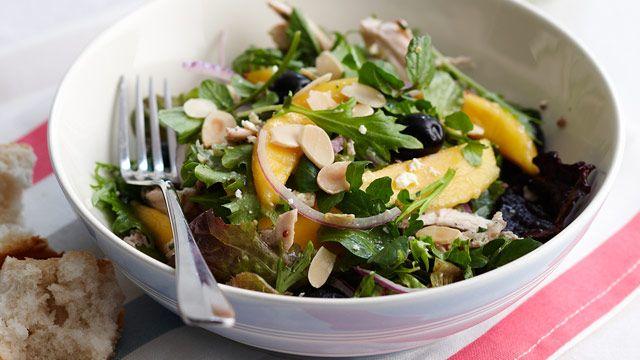 Chicken and Mango Salad Per serve: 7.3g fat and 893.5 kj