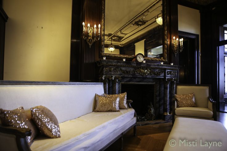 Gorgeous Gold Sequin accent Pillows at the Hamlin Mansion
