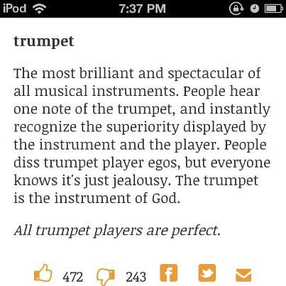 Lol.....clarinets are better though and flutes are the best