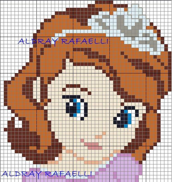 Princess Sofia the First perler bead pattern by  Drayzinha