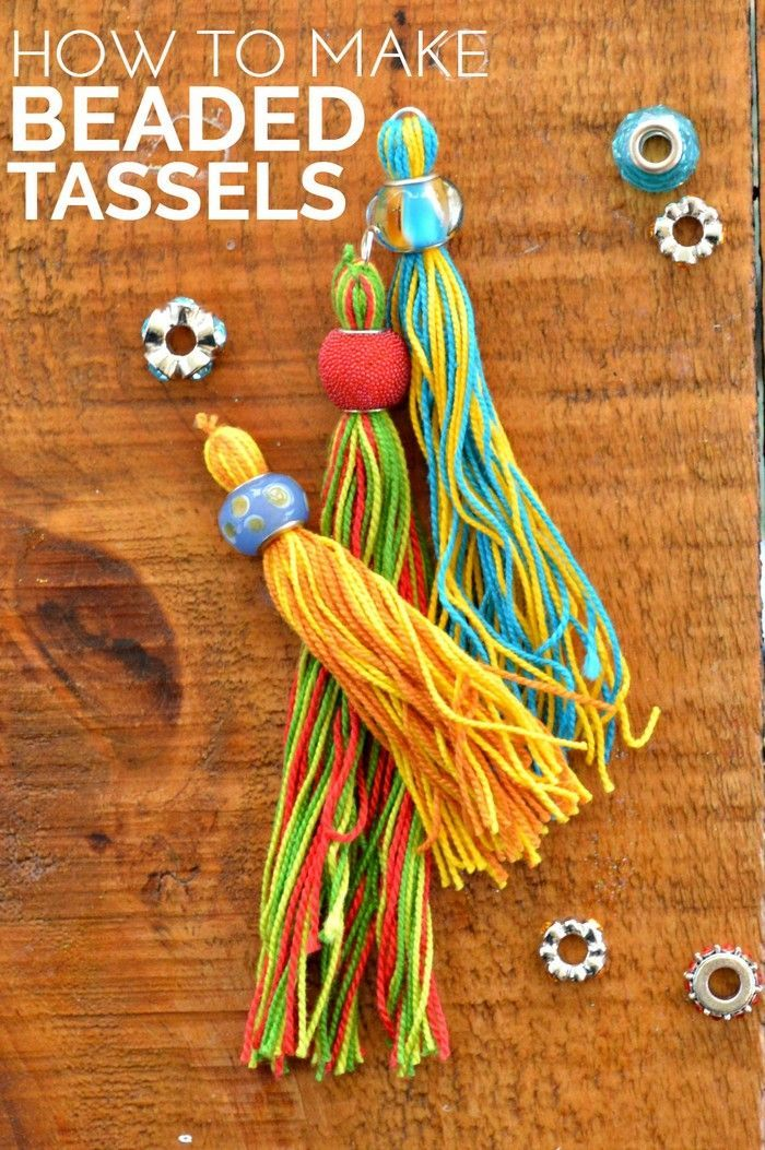 Great As Gift Wrap Toppers // How to Make Beaded Tassels