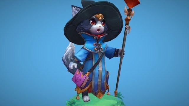 Wizard cat, Maria Panfilova on ArtStation at https://www.artstation.com/artwork/yo519