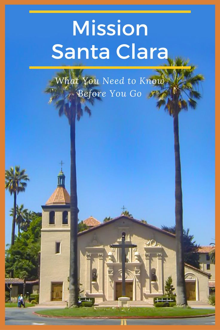 What's left of the Santa Clara mission is what you see here - it's located inside Santa Clara University