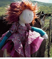 "Moulin Roty 20"" Fanette  la Coquette French Rag Doll $65"