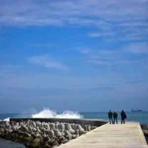another view at glagah beach yogyakarta indonesia