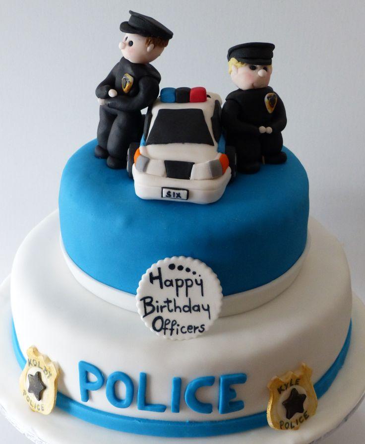 Gluten  dairy-free Police birthday cake @ Special bites