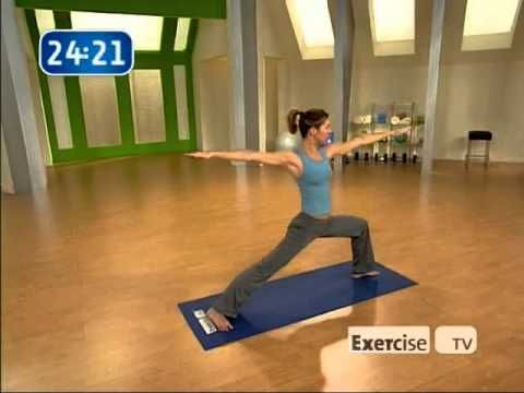 Just did this yoga fitness fusion and it's a great combo of yoga and sculpting!