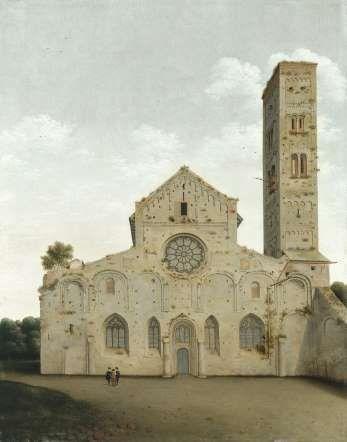 La fachada occidental de la iglesia de Santa María de Utrecht, 1662 de Pieter Jansz Saenredam en el Museo Thyssen Bornemisza de Madrid.