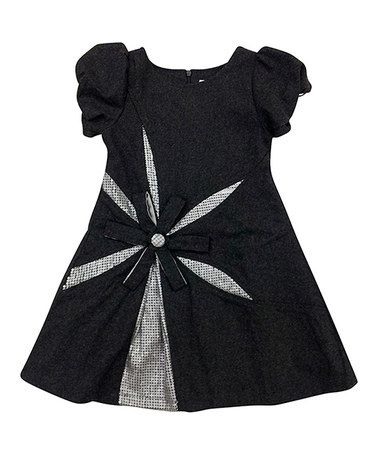 Take a look at this Gray Ella Wool-Blend Puff-Sleeve Dress - Toddler & Girls by Mini Treasure Kids on #zulily today!
