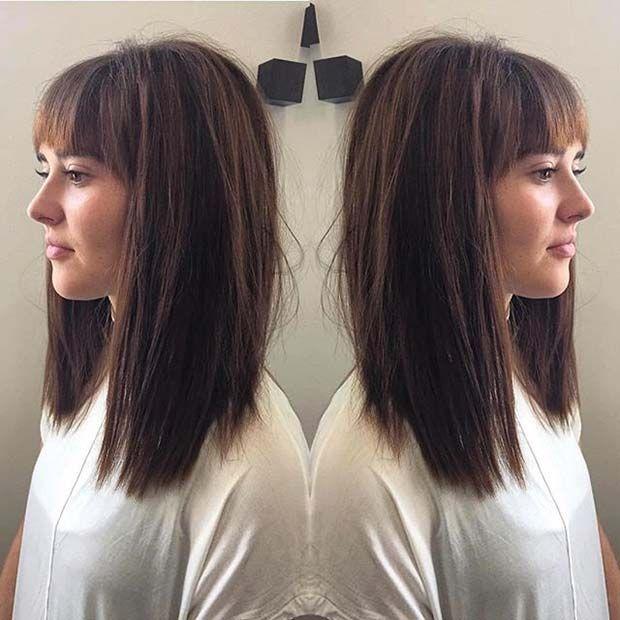 lob haircut ideas trendy