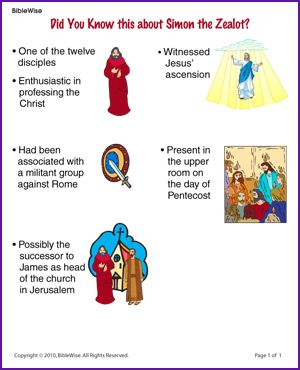 Did You Know this about Simon the Zealot (Story) - Kids Korner - BibleWise