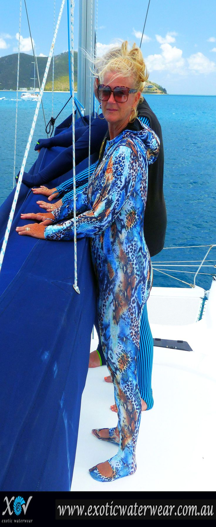 super sunprotection for sailing, the ultimate in underwaterwear. www.exoticwaterwear.com.au