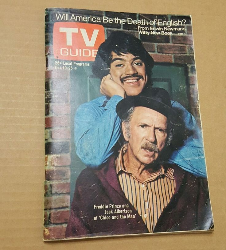 1974 TV Guide FREDDIE PRINZE and Jack Albertson CHICO & THE MAN