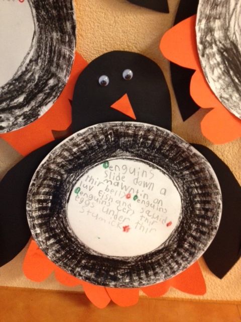 Penguin Craft  {There are a variety of options for the center of the plate.}