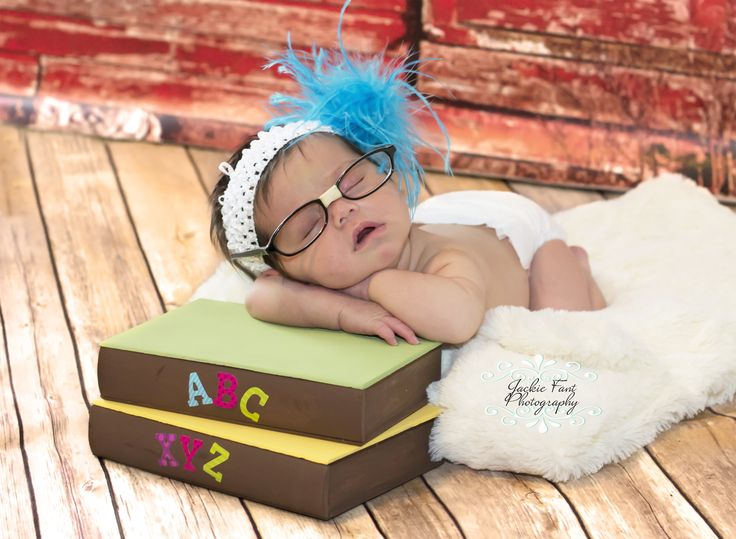 Newborn tired out from studying