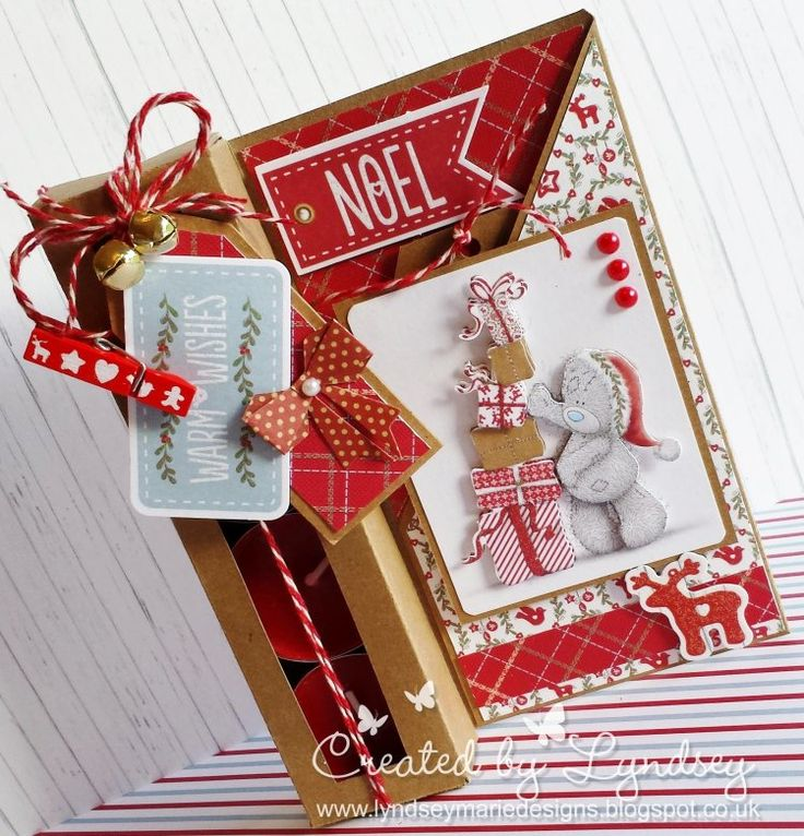 Tealight holder gift card - Me to you Christmas 2015 @trimcraft