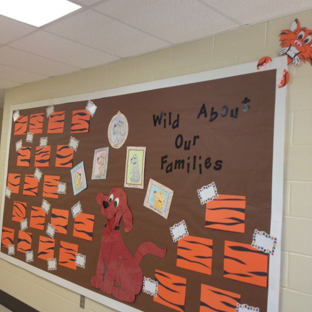 Wild about our families bulletin board