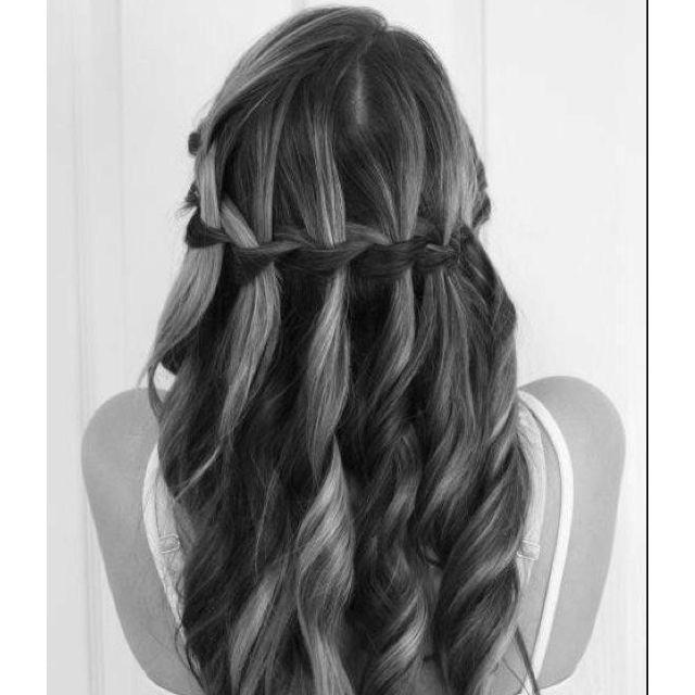 Wedding hair stylesHair Ideas, Wedding Hair, Bridesmaid Hair, Waterfal Braids, Long Hair, Prom Hair, Hair Style, Waterfall Braids, Braids Hair