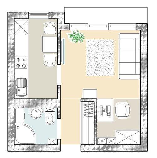 małe mieszkania rzut - Szukaj w Google