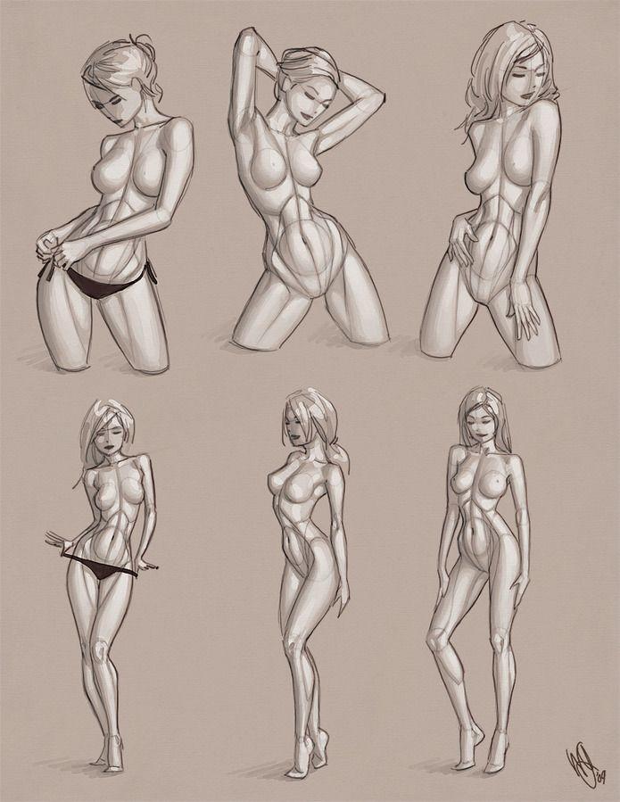 Девушки в векторном стиле от Warren Louw | Рисование в Фотошопе