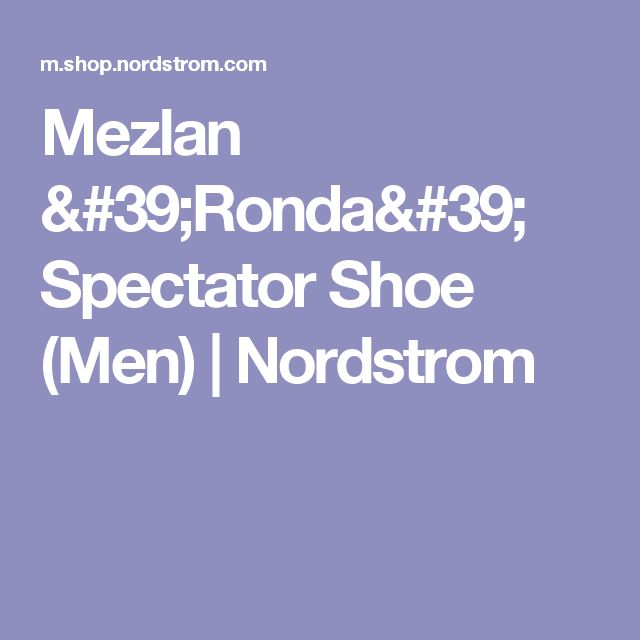Mezlan 'Ronda' Spectator Shoe (Men) | Nordstrom