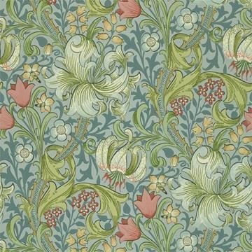 William Morris Golden Lily Tapet
