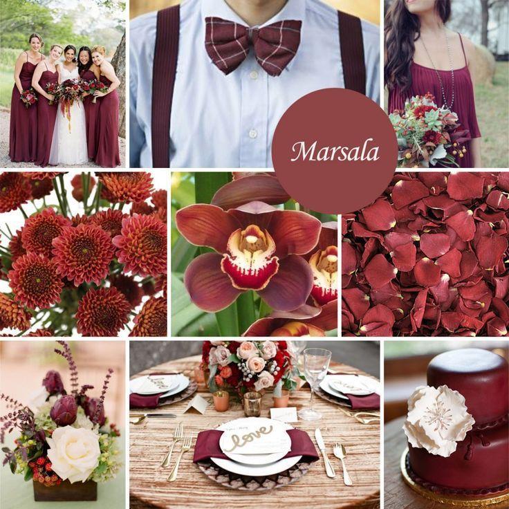 Inspirações com esta cor que está arrancando suspiros pelo mundo dos casamentos: Marsala. Tons de vinho que combinam super bem com cores mais claras.