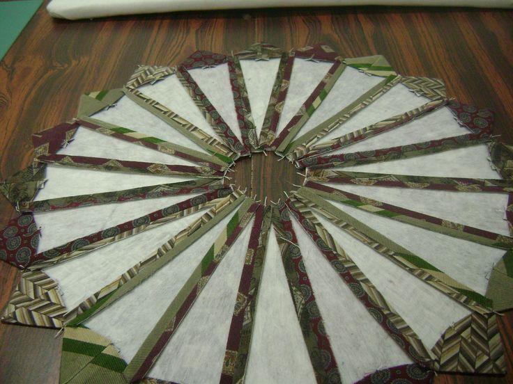 Necktie Quilt Instructions | Necktie quilt instructions | Na Na's piecing and quilting tutorials