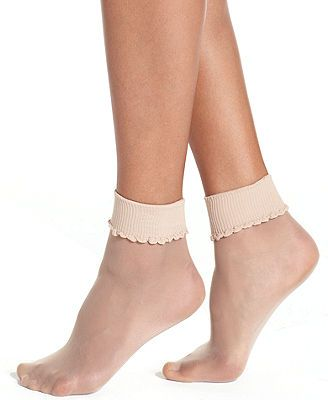 Silky and lightweight, these sheer anklets from Berkshire are the perfect finishing touch for that ladylike look. | Nylon | Hand wash | Made in USA | Sheer anklet with comfortable top band | One size