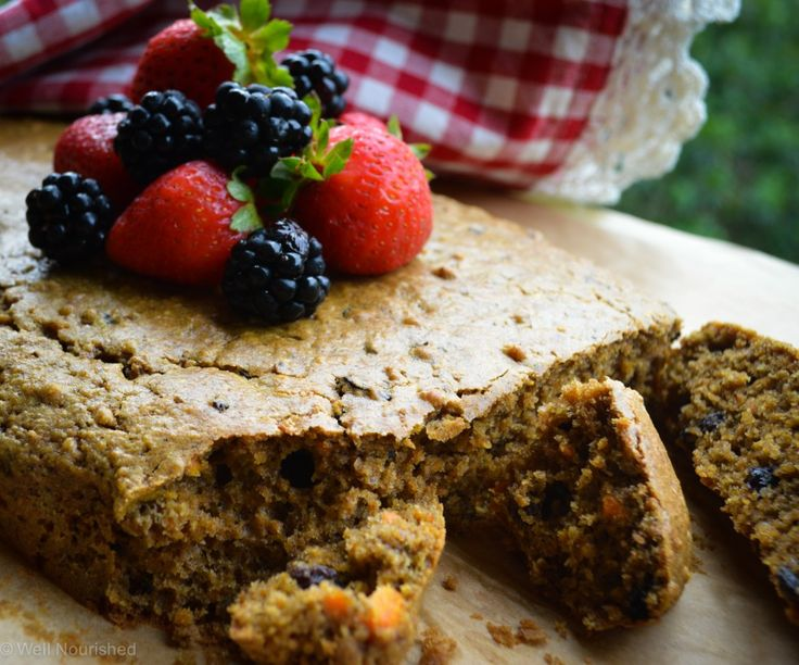Carrot cake slice - a delicious moist cake that is healthy and very simple to make, perfect for the lunch box or an after school snack. Gluten, dairy, nut and fructose free options.