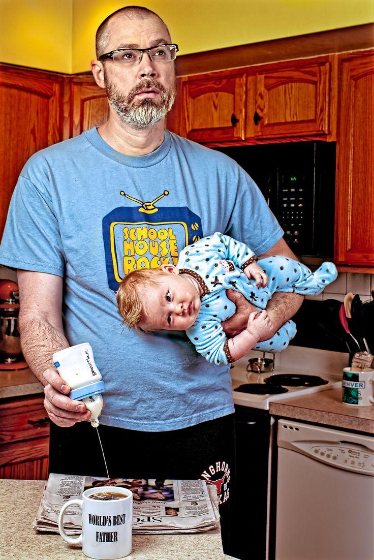 Картинка про отца и ребенка смешное, день рождения