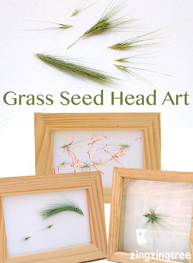 Use Grass Seed heads and your imagination to make beautiful pieces of art workArt #nature #naturecraft