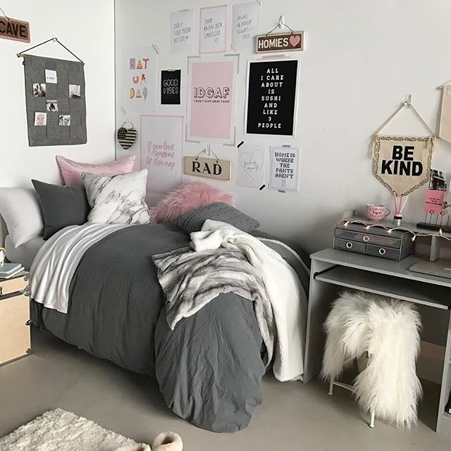 Cozy Af Shop This Look On Dormify Com College Roomcollege Dorm Closet College Bedroom Decorcollege