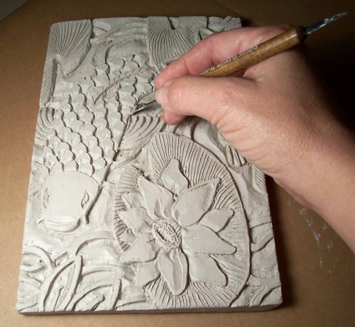 Clay Slab.Clay Projects, Carvings Clay, Art, Clay Carvings, Clay Slab, Slab Pottery, Valwebbcarvingphoto Jpg, Clay Lessons, Ceramics Ideas