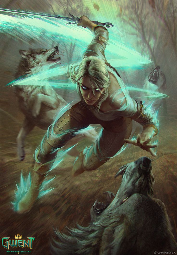 Ciri - Gwent Card, Anna Podedworna on ArtStation at https://www.artstation.com/artwork/DBWEe