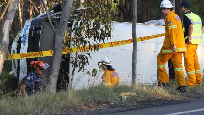 19 people were injured when this mini-bus overturned in 2009.
