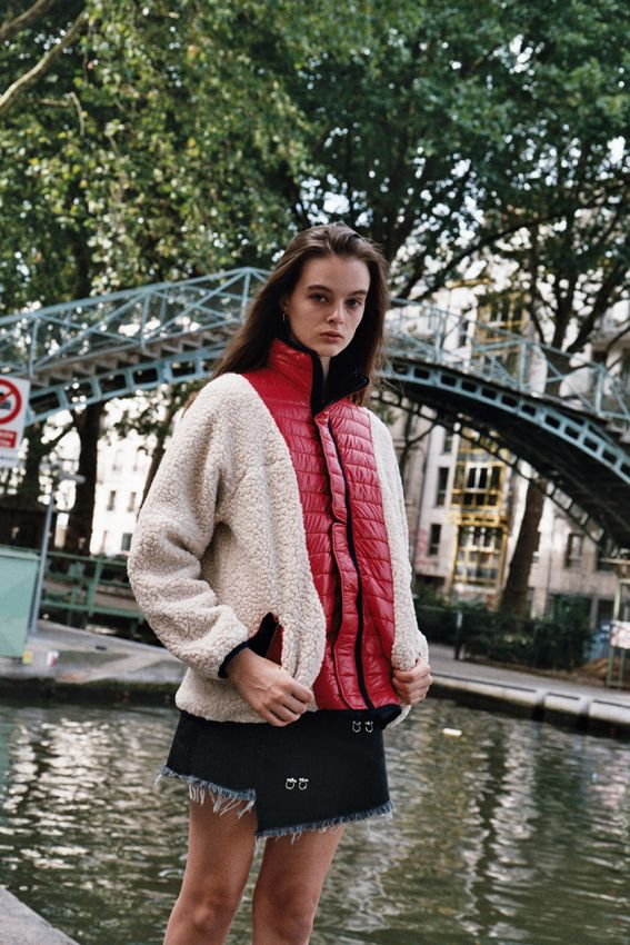Sandy Liang red puffer jacket