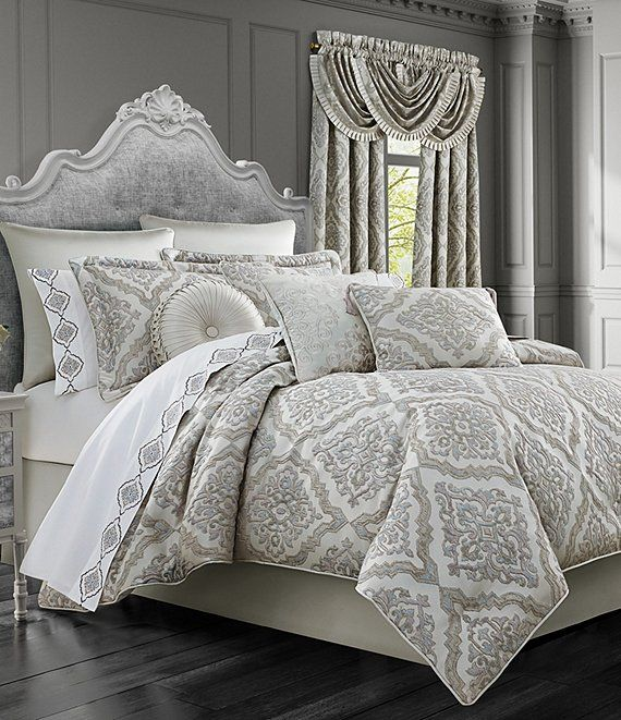 J Queen New York La Scala Silver Comforter Set Dillard S Bed Comforter Sets Comforter Sets Queen Comforter Sets