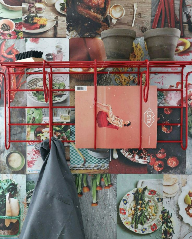 My kitchen wall decor- recipes Sophie Dahl