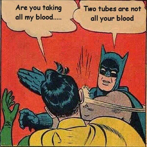 Batman and robin phlebotomy humor