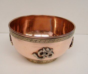 "Om Copper Offering Bowl 3 by New Age. $13.95. Om symbol copper offering bowl 3"" diameter."