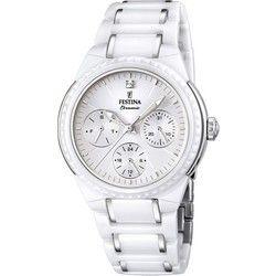 Montre Femme Festina Ceramic F16699/1 Bracelet en acier et céramique blanche