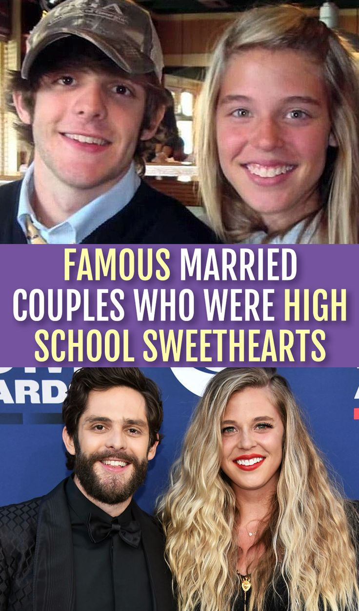 Famous married couples who were high school sweethearts in