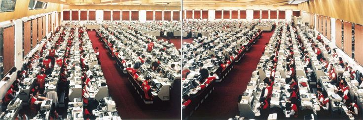 Andreas Gursky Hong Kong Stock Exchange 1994 C-print (diptych) Each panel: 180 x…