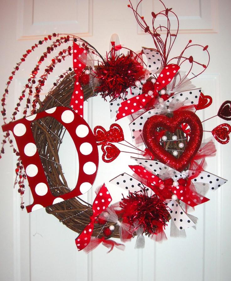 Valentine's Day Wreath - Sold On Etsy. Valentines Days Ideas #Valentines, #pinsland, https://apps.facebook.com/yangutu