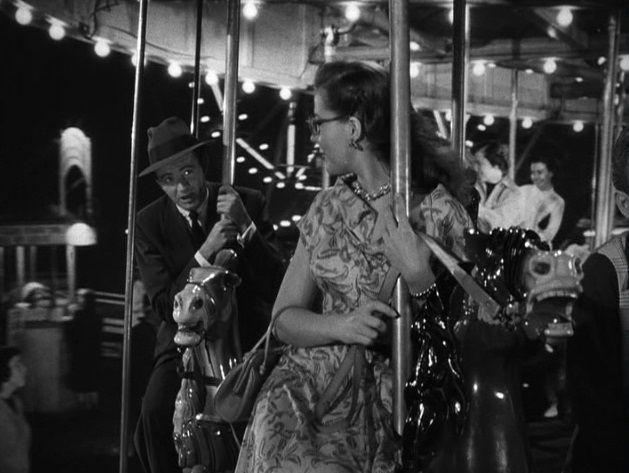 Robert Walker & Kasey Rogers (Laura Elliott) (Strangers on a Train 1951) Alfred Hitchcock. Photo Warner Bros. Pictures.