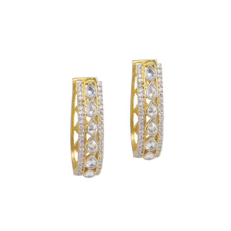 Golden U-Shaped Bali Earrings