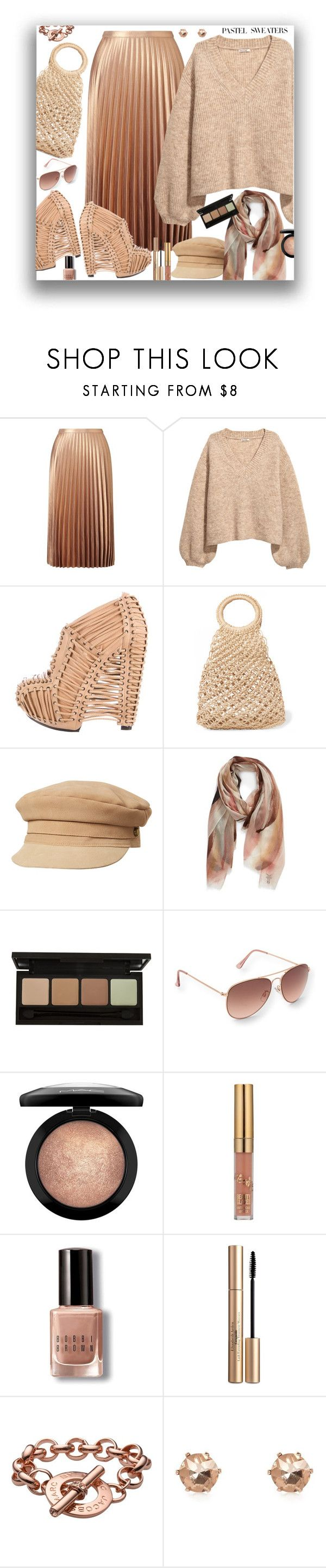 """""""Pastel Sweaters"""" by marionmeyer ❤ liked on Polyvore featuring Miss Selfridge, UN United Nude, Elizabeth and James, Lack of Color, Frye, Aéropostale, MAC Cosmetics, Bobbi Brown Cosmetics, Elizabeth Arden and Marc by Marc Jacobs"""