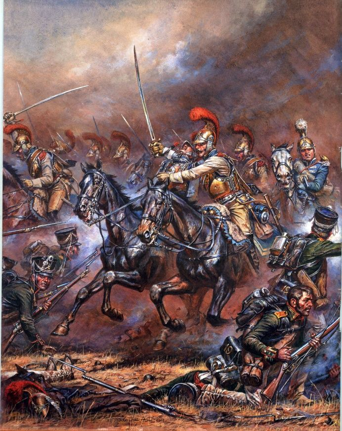 The carabiniers charge, Battle of Borodino