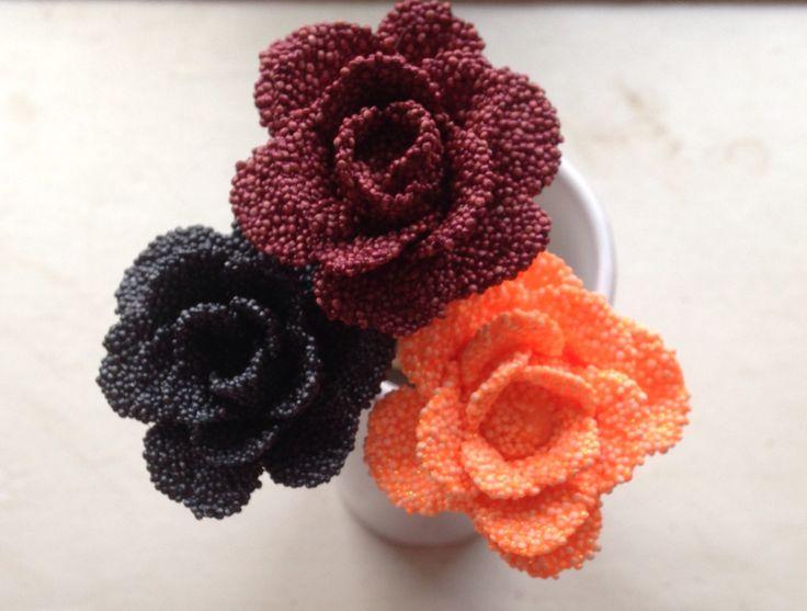 Smukke roser af foamclay